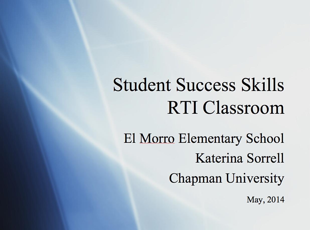 Increasing Student Success Skills – CLASSROOM GUIDANCE LESSONS -